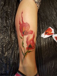 Florale Orchidee - Realistic Tattoo