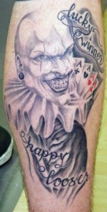eindrucksvolle 'Joker' - Black & Grey Tätowierung von Meister Lutz