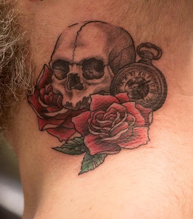 Old New School Tattoo Skull Inkerei Herr Lutz Tattoostudio Inkerei